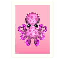 Cute Pink Baby Octopus Art Print