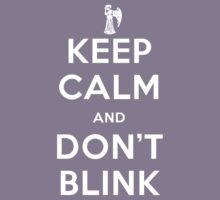 Doctor Who Keep Calm And Don't Blink Kids Tee