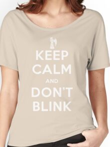 Doctor Who Keep Calm And Don't Blink Women's Relaxed Fit T-Shirt