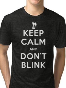 Doctor Who Keep Calm And Don't Blink Tri-blend T-Shirt