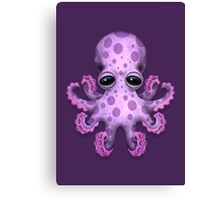 Cute Purple Baby Octopus Canvas Print