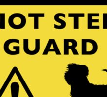 Humorous Affenpinscher Guard Dog Warning Sticker
