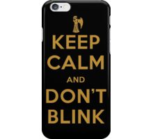 Doctor Who Keep Calm And Don't Blink iPhone Case/Skin
