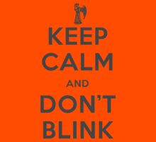 Doctor Who Keep Calm And Don't Blink Kids Clothes