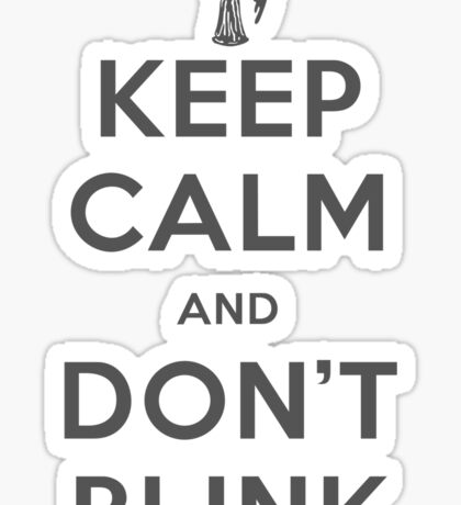 Doctor Who Keep Calm And Don't Blink Sticker