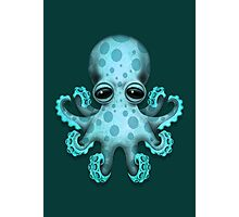 Cute Blue Baby Octopus Photographic Print