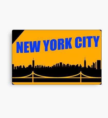 New York City Skyline Subway Card Canvas Print