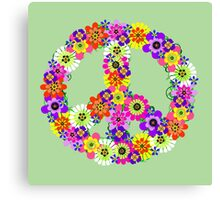 Peace Sign Floral Canvas Print