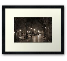 Quiet night out Framed Print