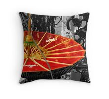 Red fusion... Throw Pillow