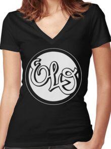 E.L.O. WHITE Women's Fitted V-Neck T-Shirt