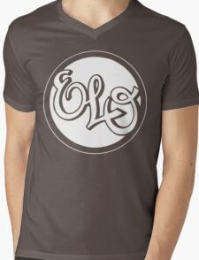 E.L.O. WHITE Mens V-Neck T-Shirt