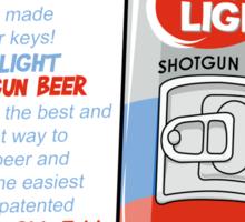 Shotgun Beer Sticker