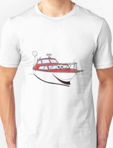 Red Motor Boat II Cartoon T-Shirt