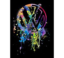 Volkswagen Emblem Splatter Photographic Print