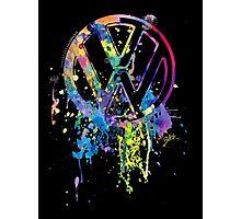 Volkswagen Emblem Splatter © Photographic Print