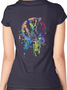Volkswagen Emblem Splatter © Women's Fitted Scoop T-Shirt