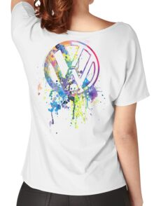 Volkswagen Emblem Splatter © Women's Relaxed Fit T-Shirt