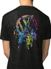 Volkswagen Emblem Splatter © Tri-blend T-Shirt