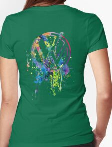 Volkswagen Emblem Splatter © Womens Fitted T-Shirt