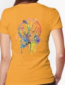 Volkswagen Emblem Splatter © Womens Fitted T-Shirt