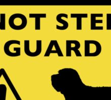 Humorous PBGV Guard Dog Warning Sticker