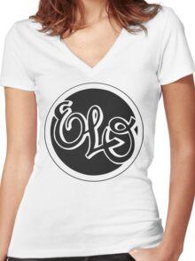 E.L.O. BLACK Women's Fitted V-Neck T-Shirt