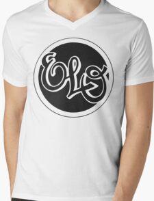 E.L.O. BLACK Mens V-Neck T-Shirt