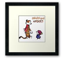 The of snow calvin and hobbes Framed Print