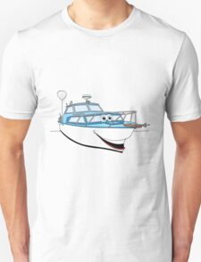 Blue Motor Boat II Cartoon T-Shirt