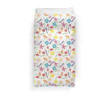 The Colorful Little Flowers Duvet Cover