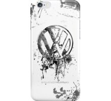 Volkswagen Emblem Splatter BW iPhone Case/Skin