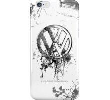 Volkswagen Emblem Splatter BW © iPhone Case/Skin