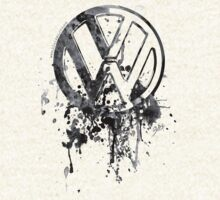 Volkswagen Emblem Splatter BW © by BlulimeMerch
