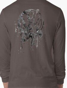 Volkswagen Emblem Splatter BW © Long Sleeve T-Shirt