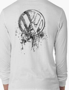 Vee Dub Emblem Splatter BW © Long Sleeve T-Shirt