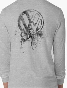 Vee Dub Emblem Splatter BW © Long Sleeve T-Shirt