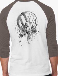 Volkswagen Emblem Splatter BW © Men's Baseball ¾ T-Shirt