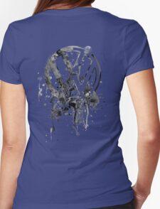 Volkswagen Emblem Splatter BW © Womens Fitted T-Shirt