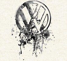 Volkswagen Emblem Splatter BW © Hoodie