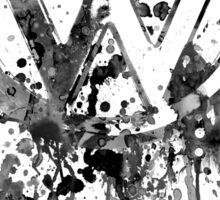 Volkswagen Emblem Splatter BW © Sticker