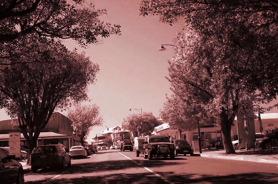 Country street scene by JuliaWright