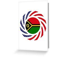 Ni-Vanuatu American Multinational Patriot Flag Series Greeting Card