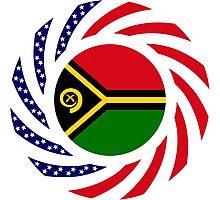 Ni-Vanuatu American Multinational Patriot Flag Series Photographic Print