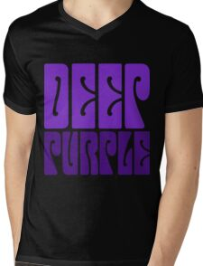 DEEP PURPLE Mens V-Neck T-Shirt