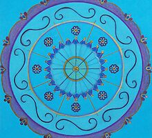 Blue Mandala by Pam Wilkie