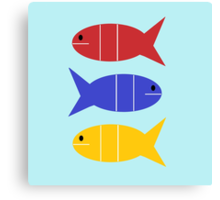 Tres Fishes Canvas Print