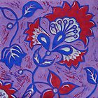 Lino print by Pam Wilkie