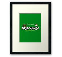 Angry Cuccos Framed Print