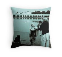 Family and the holy water Throw Pillow